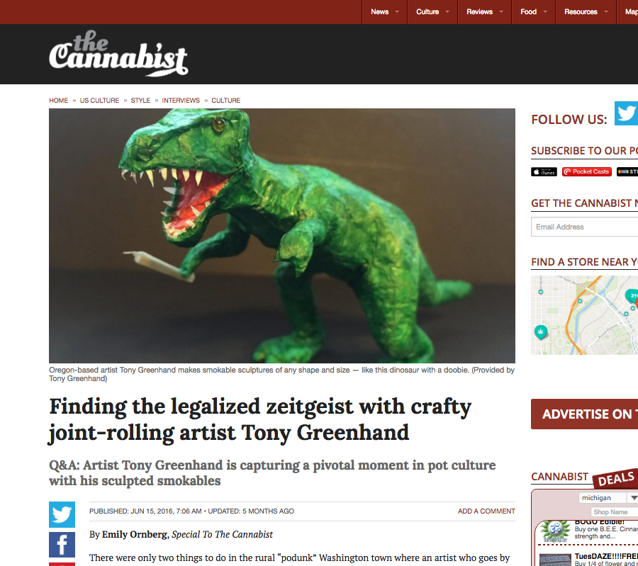 Joint-Rolling Artist Tony Greenhand