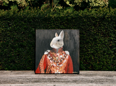 Painting of Couple's Rabbit