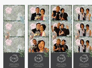 Photo booth background design & Actual photos