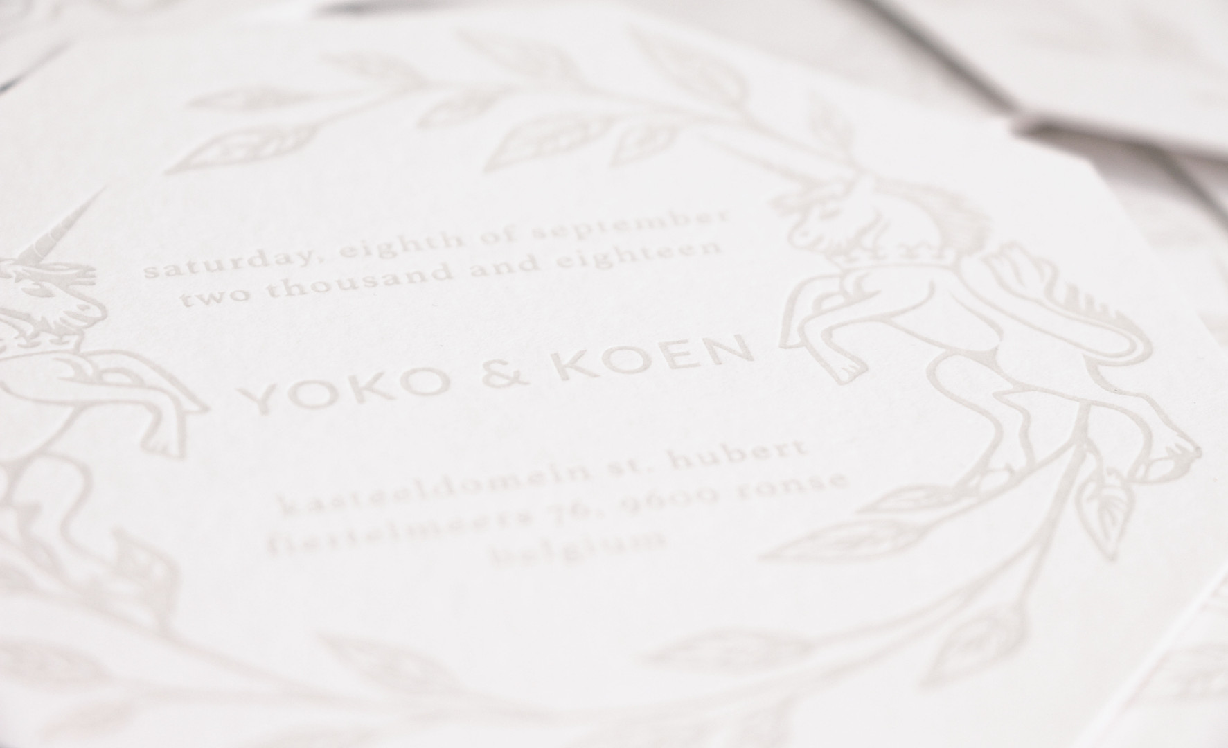 Letter Press Card (close up)