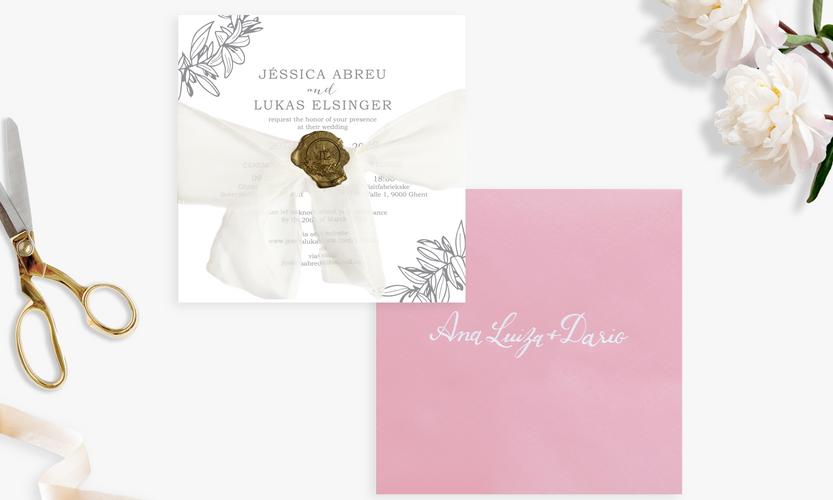 Letterpress Invitation & Envelope