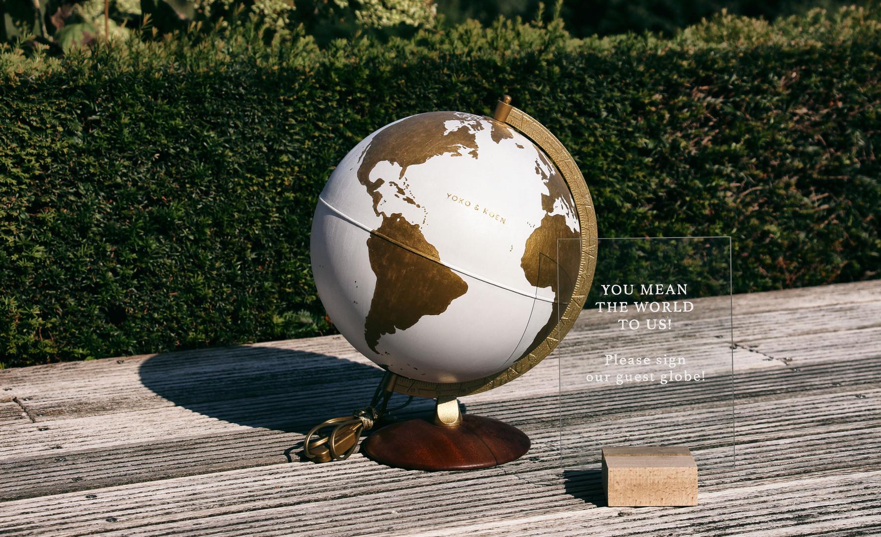 Globe & Sign