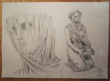 Sketch of the Veiled Vestal