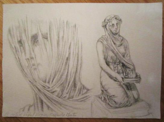 Sketch of the Veiled Vestal
