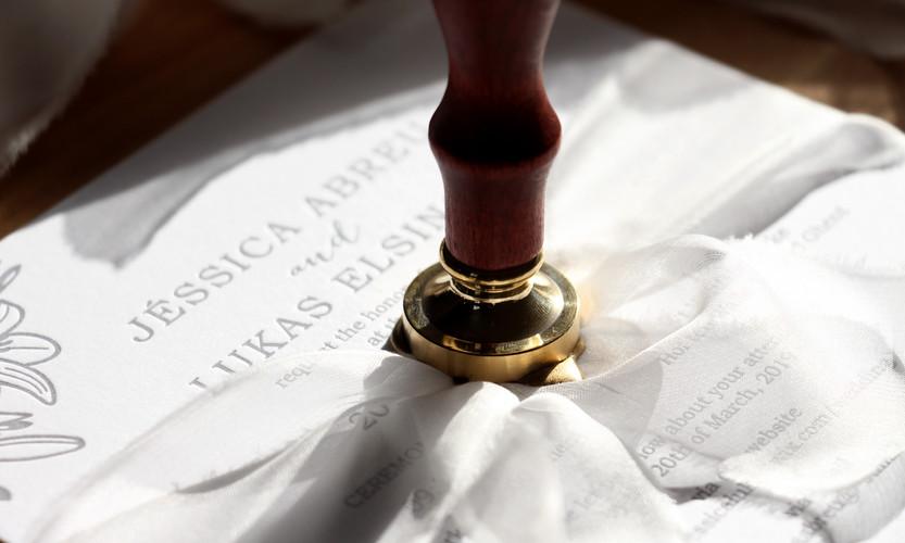 Letterpress Invitation & Wax Seal