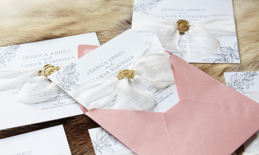 Letterpress Invitation & Wax Seal & Envelope
