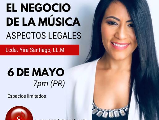 Webinar El Negocio de la Música: Aspectos Legales