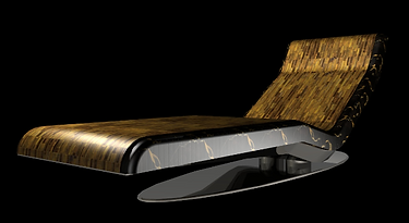 """CAESAR"" Infra-red Heated Marble Chaise Longue 