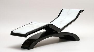 DIVA CLASSICO BLANCHE: Chaise Longue de Diseño Calefactadas. Fabio Alemanno: Diseño para Spas y Interiores. Tumbonas de Dissrmicas calefactadas.