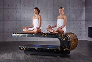 SQUARE Treatment 005: Mesas de masajes húmedos con sistema de calefacción y altura regulable. Fabio Alemanno: Diseño para Spa y Interiores.