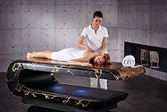 SQUARE Treatment 002: Mesas de masajes húmedos con sistema de calefacción y altura regulable. Fabio Alemanno: Diseño para Spa y Interiores.