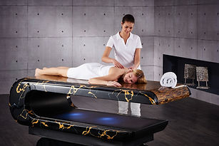 "SPA DESIGN 7 ""SQUARE"" Infra-red Heated Treatment Tables Marble Hammam Tables 
