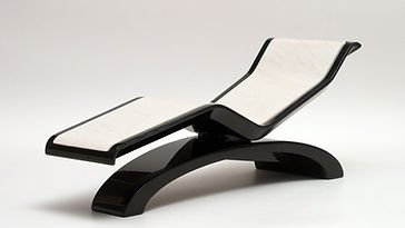 DIVA CLASSICO IVOIRE front: Infra-red Heated Marble Lounge Chairs | Tiled Lounge Chairs | Heated Loungers | Wellness Loungers | Heated Sauna Loungers | Relaxation Loungers | Tiled Loungers | Relaxation Lounge Chairs for Hotel & Spa Design | Loungers for Sauna & Wellness Design | Loungers for Hammam & Steam Bath.