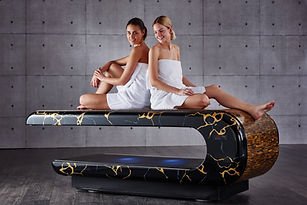 "SPA DESIGN 8 ""SQUARE"" Infra-red Heated Treatment Tables Marble Hammam Tables 