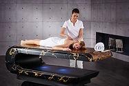 SQUARE Treatment 011: Mesas de masajes húmedos con sistema de calefacción y altura regulable. Fabio Alemanno: Diseño para Spa y Interiores.