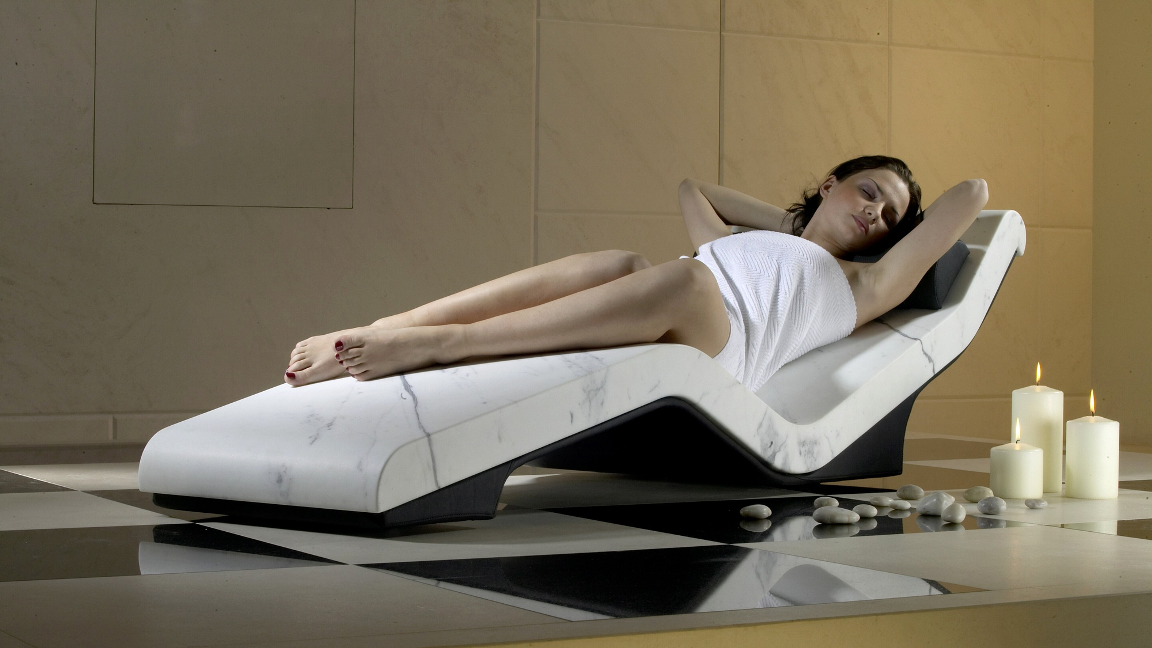 CLEOPATRA SPA Relaxation Lounger Heated Loungers SPA TableHAMMAM