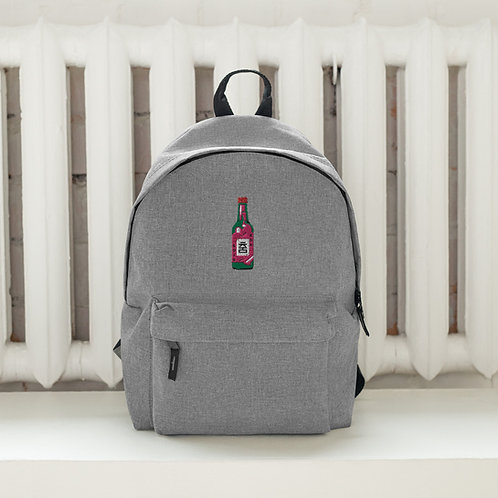 Limited Edition Soju Bottle Embroidered Backpack
