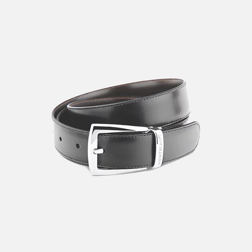 Cintura elegante nera/marrone reversibile regolabile Id.9781