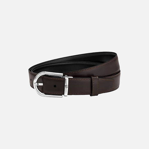 Cintura elegante nera/marrone reversibile regolabile Id.123890