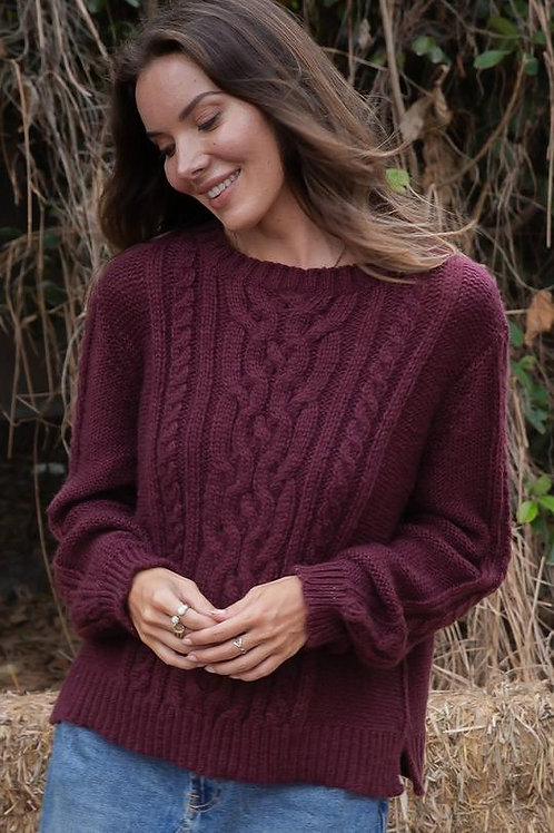 Wooden Ships Cozy Cable Pullover