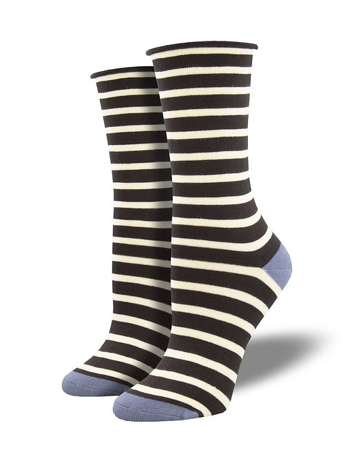 "Socksmith ""Sailor Stripe"" Roll Top Bamboo Socks"
