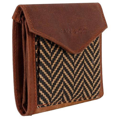 Vaan & Co Herringbone Tri-Fold Wallet