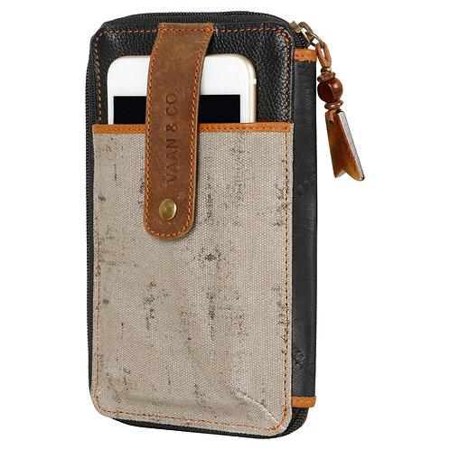 Vaan & Co Crossbody Phone Wallet Grey