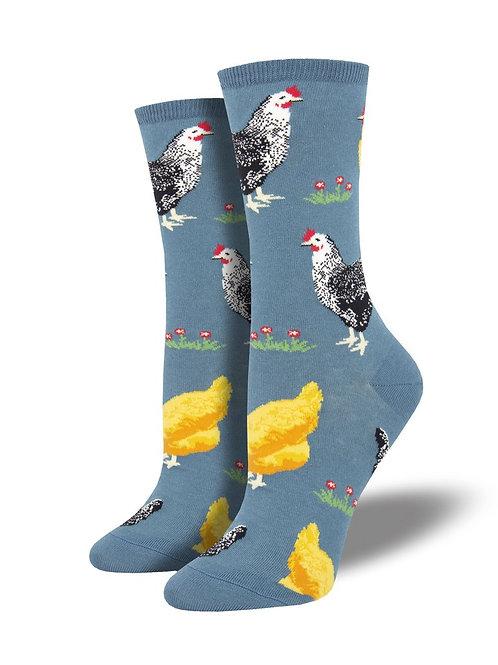 """Socksmith """"Hen House"""" Graphic Socks"""