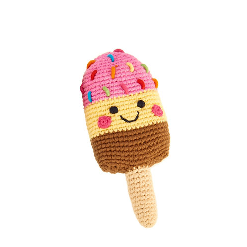 PebbleChild Friendly ice lolly - pink/yellow/brown
