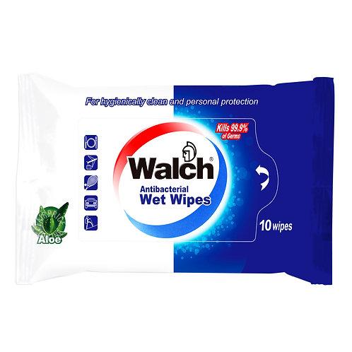 Walch Antibacterial Wet Wipes10 per pack