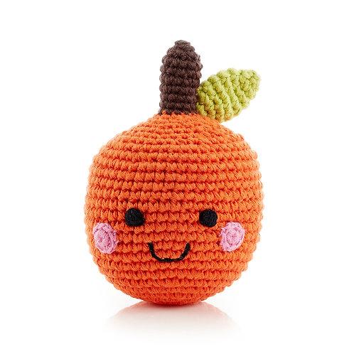 PebbleChild Friendly fruit rattle - orange