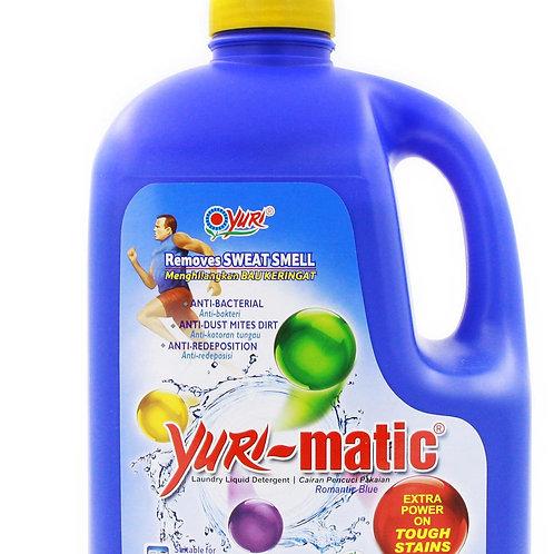 Yuri-Matic Laundry Liquid Detergent with Refill - Romantic Blue 2.8kg