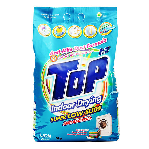 Top Detergent Powder Packet Super Low Suds - Anti-Bacterial 5kg