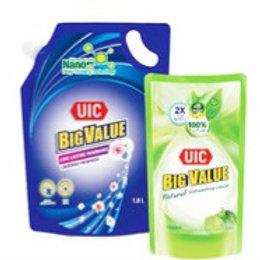 UIC Big Value Liquid Detergent Refill - Floral 1.8L + 600ml