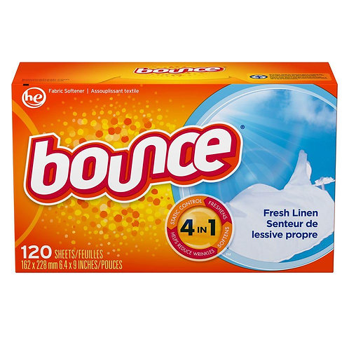 Bounce Dryer Sheets - Outdoor Fresh 120 per pack