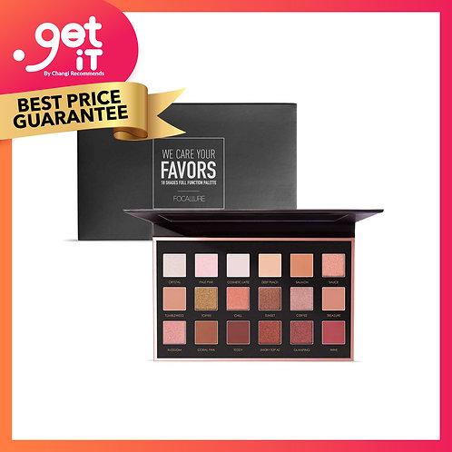 Focallure 18 Colors Eyeshadow Palette (with mirror) -2A Neutrals