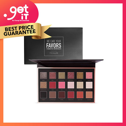 Focallure 18 Colors Eyeshadow Palette (with mirror) -1A Bright Lux