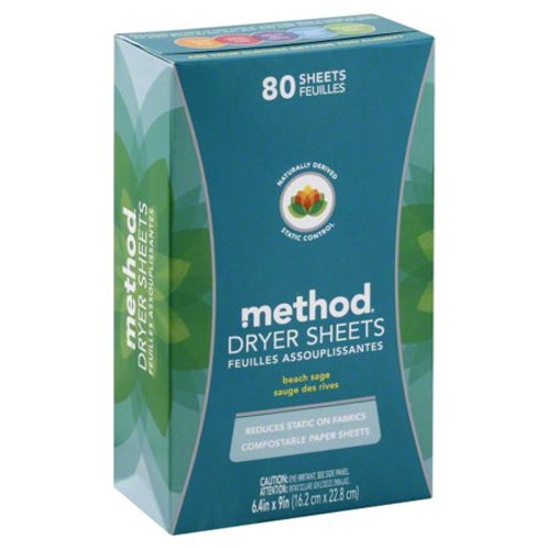 Method Dryer Sheets - Beach Sage 80 Pc