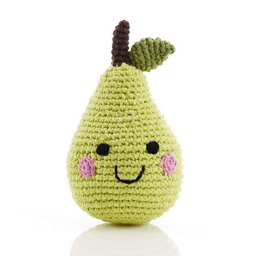 PebbleChild Friendly fruit rattle - pear