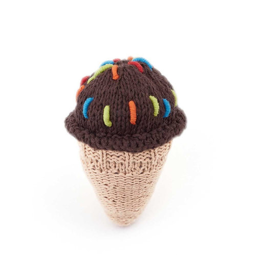 PebbleChild Ice cream rattle - chocolate