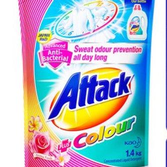 Attack Liquid Detergent Refill - Plus Colour (Aroma Fresh) 1.4kg