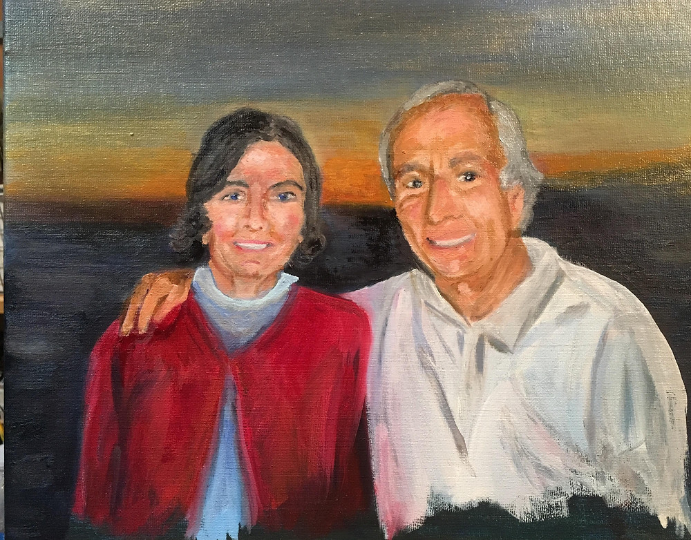 Jane and Vic, oil on canvas.