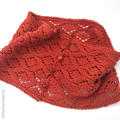 Molten Copper Lace Cowl pdf pattern