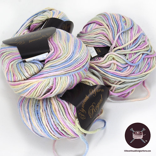 shiny bamboo yarn in pastel range of colors