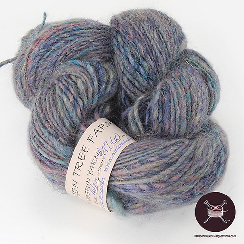 blue lavender handspun single ply bulky yarn