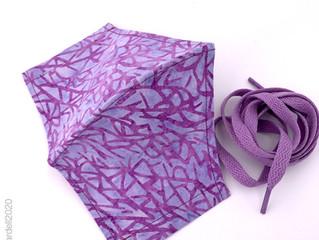 Handmade batik masks in stock now