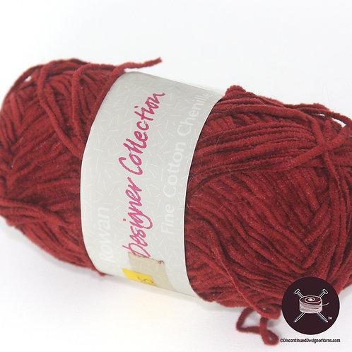 dark red cotton chenille yarn