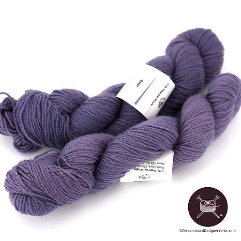 Deep lavender fingering weight wool yarn