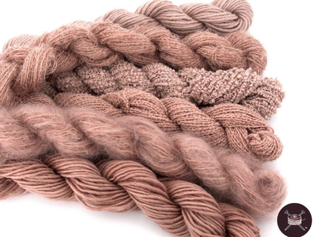 Natural Dyeing a Suite of Yarns with Avocados