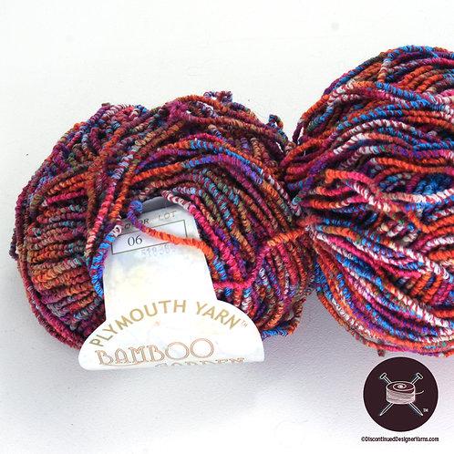 multicolor bamboo yarn, rose, aqua, orange